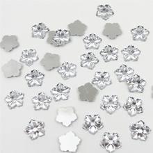 200 шт/лот 13 мм имитация смолы цветочный дизайн Акриловые стразы