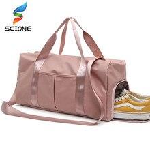 d3e13316502b30 Outdoor Waterproof Nylon Sports Gym Bags Men Women Training Fitness Travel  Handbag Yoga Mat Sport Bag with shoes Compartment