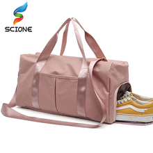 5f51a491096d Outdoor Waterproof Nylon Sports Gym Bags Men Women Training Fitness Travel  Handbag Yoga Mat Sport Bag