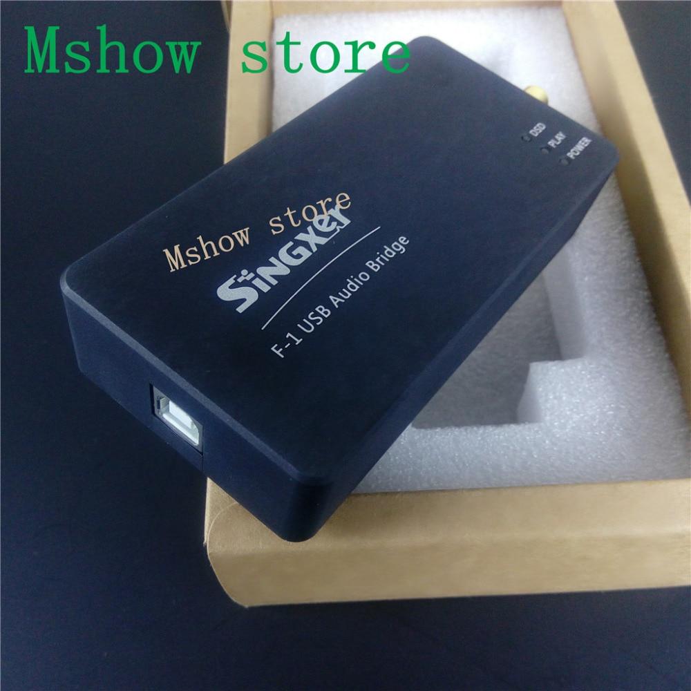 New SINGXER F-1 XMOS XU208 USB Digital Interface Module High end U8 upgraded version CNC Aluminum Protective Case hifi audio