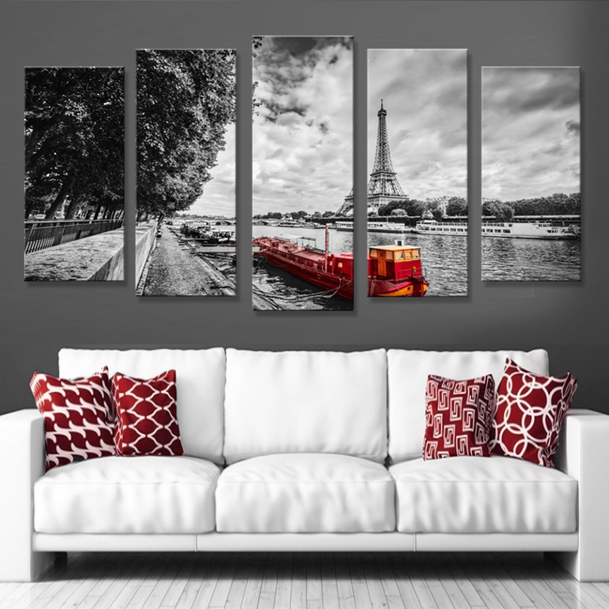 5 Panel Canvas Wall Art Print Home Decor Nordic Poster Paintings ON Yhe Eall New York