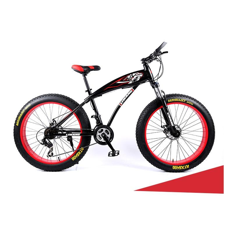 Snow Bike 21 Speed 24 Speed 27 Speed 26 Inch Double Disc Brake Big Tire Mountain Bike