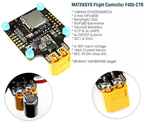 Matek MATEKSYS <font><b>F405</b></font>-<font><b>CTR</b></font> <font><b>F405</b></font> AIO BFOSD STM32F405 Flight Controller Built-in PDB 5V/2A BEC SD Card Slot BMP280 for F4 RC Drone image