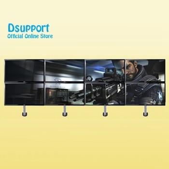"Full Motion 12""-27"" LCD LED 8 Screen Monitor Holder Flexible Display Mount Rack Stand D11C-8"