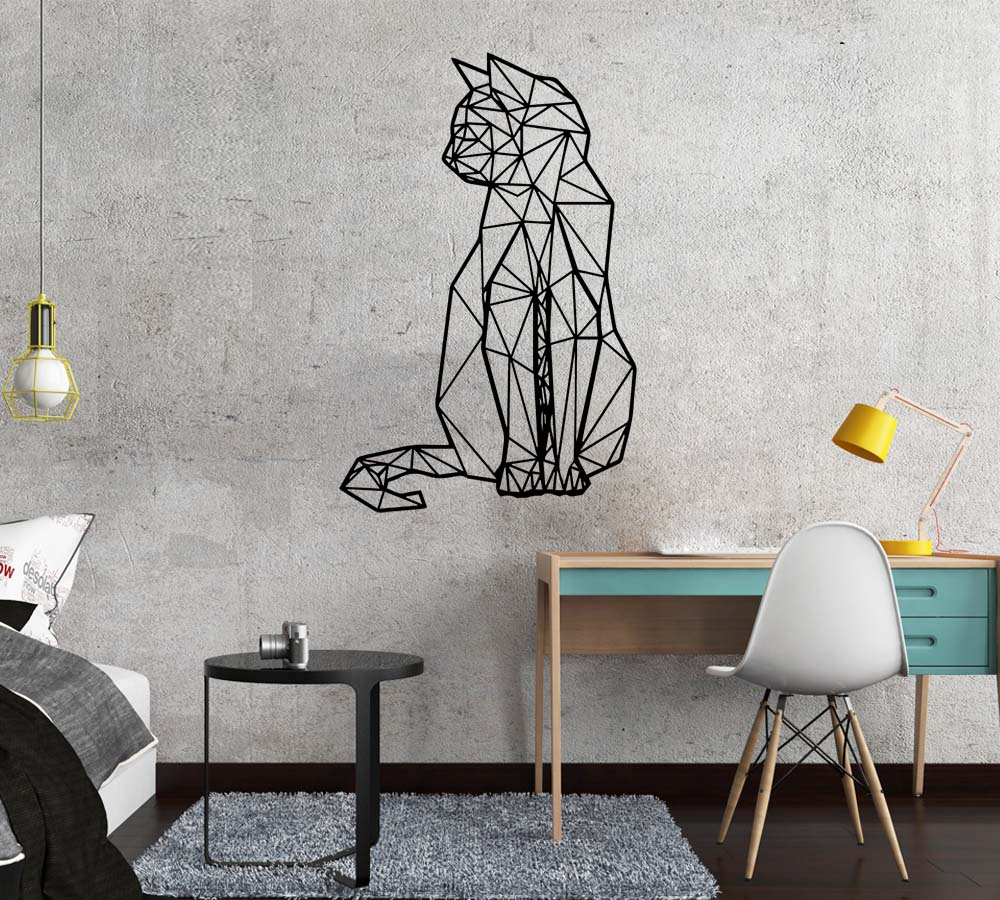 New Cat Geometry Wall Sticker Wall Decal Stickers Home Decor For Baby's Room Decoration Vinyl Wall Decals