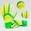 2017 Child Kids Adult Professional Thicken Full Latex Football Goalkeeper Gloves for Goalie Soccer Goal Keeper with Finger Guard