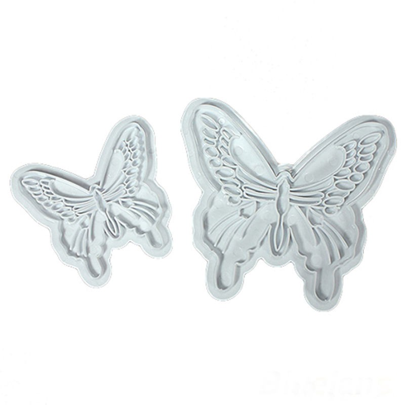 Plastic Butterfly Shape Cake Fondant Mold And Cookie Plunger Cutter Tools 5
