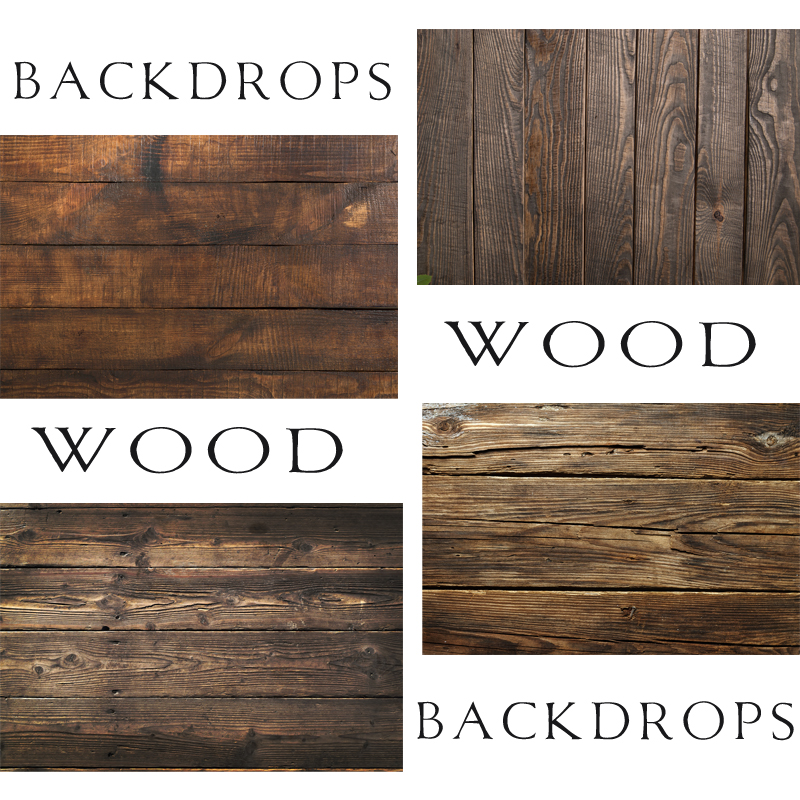 Board Backdrops Rustic Natural Wood