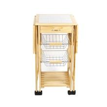 New Arrival Portable Folding Kitchen Rolling Tile Top Drop L