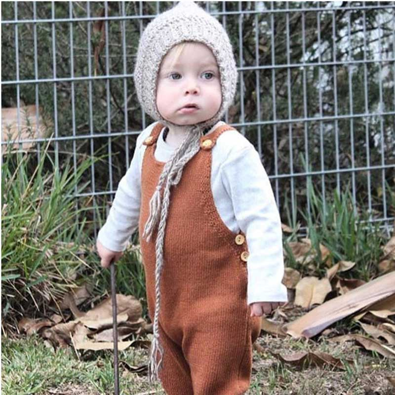 Baby Boys   Rompers   Pants Newborn Baby Girl Knitted Jumpsuit Clothes 2019 Autumn Baby Girls   Rompers   Cotton Infant Baby Girl   Romper