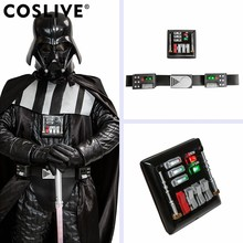 Coslive 2019 Halloween Star Wars Darth Vader Waistbelt Chest Plate With LED Lights Cosplay Superhero Men PU Waistband Props(China)