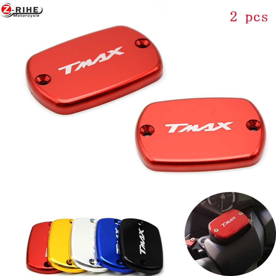 2PCS High Quality with TMAX LOGO Motorcycle CNC Brake Fluid Reservoir Cap cover For Yamaha tmax 530 500 XP530 2012 2012-2016 16 motorcycle cnc front brake fluid reservoir cap cover for yamaha t max 530 500 tmax530 xp530 2012 2016 tmax500 xp500 2008 2011