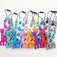 Giraffe Teething Toy For Baby Carrier Accessory Babywearing Silicone Teether Giraffe Carrier