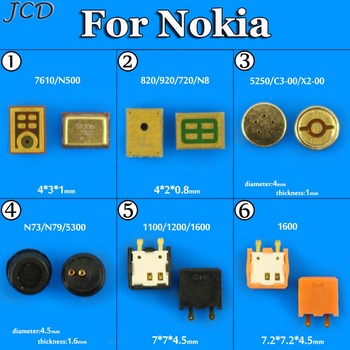 JCD Microphone Inner MIC Replacement Part For Nokia Lumia 5250 C3 C3-00 1280 X2 830 950 950XL 930 N97 N85 N86 N81 2610 1110 image