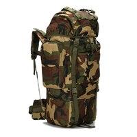 Открытый тактический Военная Униформа рюкзак 65l Сумки для походов Водонепроницаемость путешествия Пеший Туризм походы кемпинг рюкзак с до