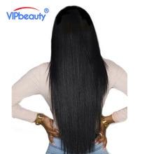 Vip belleza Bundles Armadura Del Pelo Humano Del Pelo Brasileño Recto Remy Extensiones de cabello Color Natural 1B 10-28 Pulgadas 1 Unidades Sólo