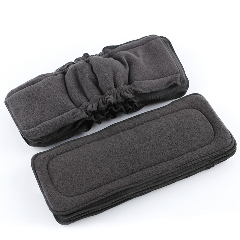 [simfamily]5pcs Reusable Bamboo Charcoal Insert Baby Cloth Diaper Mat Nappy Inserts Changing Liners 4layer Each Insert Wholesale