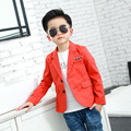 Korean children's clothing baby outerwear boys casual suit jacket suit big virgin solid color shirt boy jacket party coat