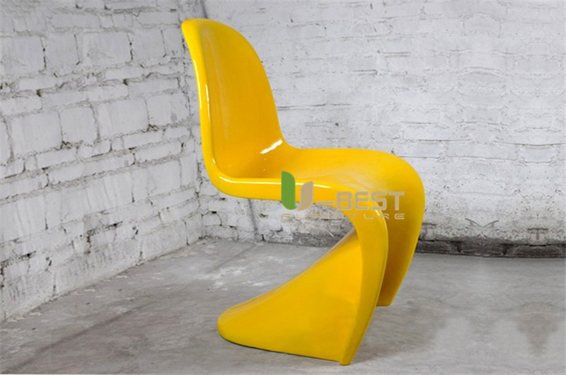 panton chair fiberglass dining chair2