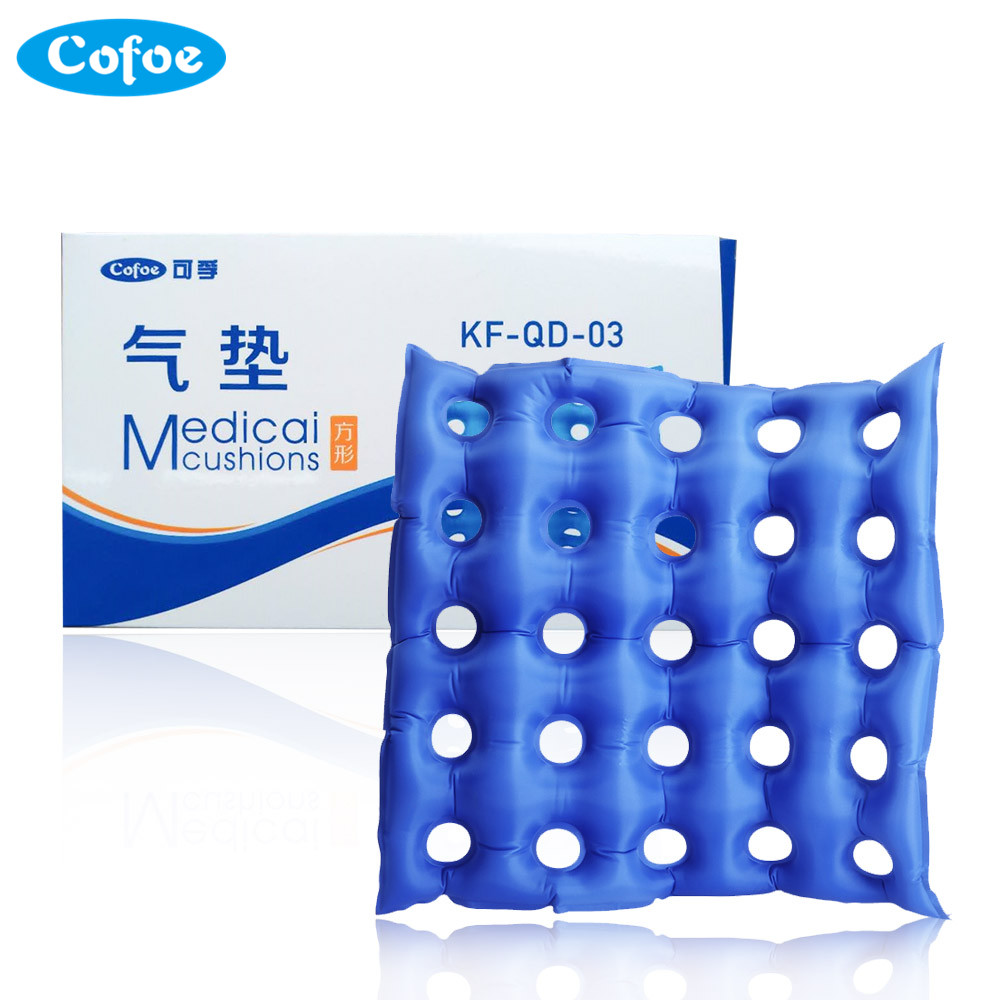 Cofoe Medical Home Seat Cushion Inflatable Cushion <font><b>Wheelchair</b></font> Square Porous Anti-hemorrhoids Buttocks Massage Bedsore Prevention