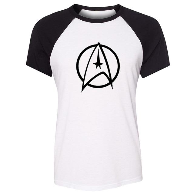 7b2c3f3c Red stop hand gestures Science Fiction Film Classics Star Trek Logo Womens  Ladies Printing Graphic Tee