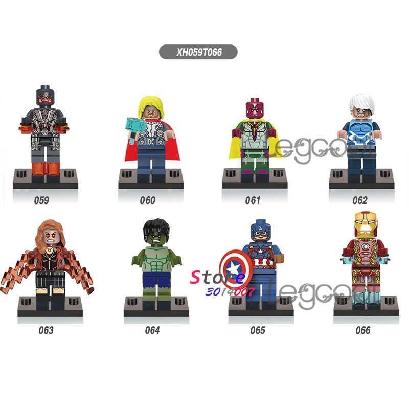 1PCS modelo blocos de construção super-heróis Thor Visão Quicksilver hulk Capitão América Homem De Ferro brinquedos para presente das crianças