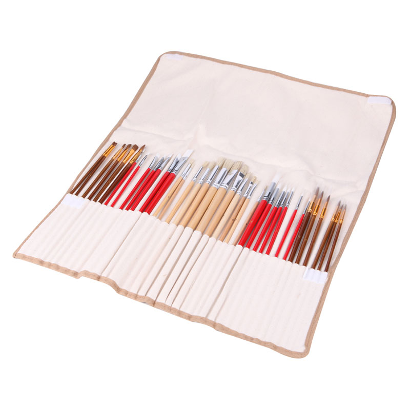 38Pcs Artists Paint Brushes Art Set For Acrylic Oil Watercolor 3 Style Portable -Y102 various artists various artists mamma roma addio