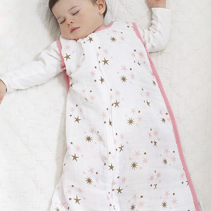 New Baby Sleeping Bags 100% Muslin Cotton Aden Anais Thin Sleeping Bag For Summer Bedding Baby Bebe Sacks Sleepsacks 12-18Months