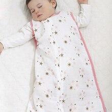 Aden Anais Muslin Baby Sleeping Bag For Summer 100% Cotton infant clothing Newborns Saco De Dormir Para Bebe With Original Label