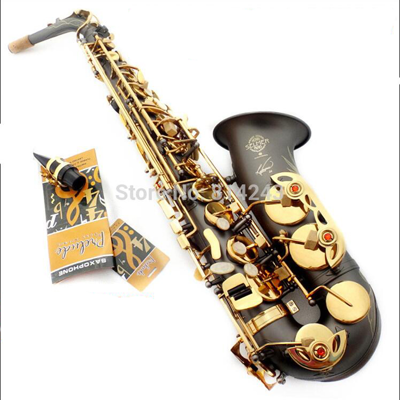 Selmer Eb Alto Saxophone Reference 54 High Quality  France Henri Falling E Sax Gold-Bonded Grind Arenaceous Black Body 2016 high quality sachs alto e