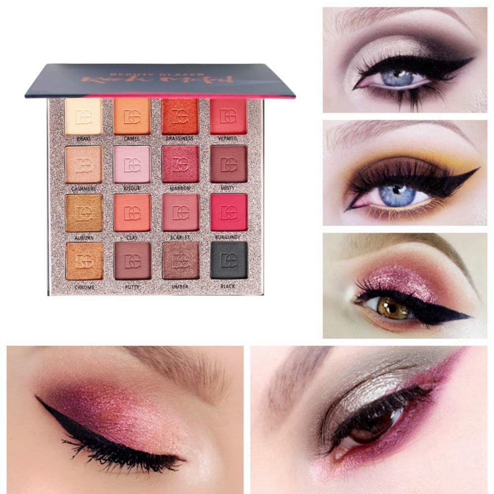 BEAUTY GLAZED Ultra Make Up Eyeshadow Palette Nude Shining Eyeshadow Palette Waterproof Hightlighter Powder For Beauty Cosmetics