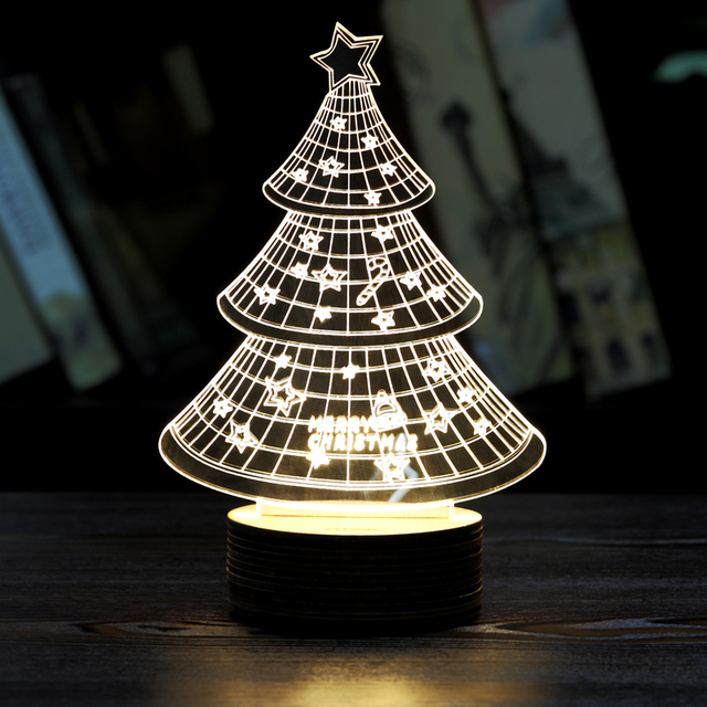 Christmas gifts christmas table lamp modern creative fashion home christmas gifts christmas table lamp modern creative fashion home decor 3d light stereo bedroom bedside lamp aloadofball Image collections