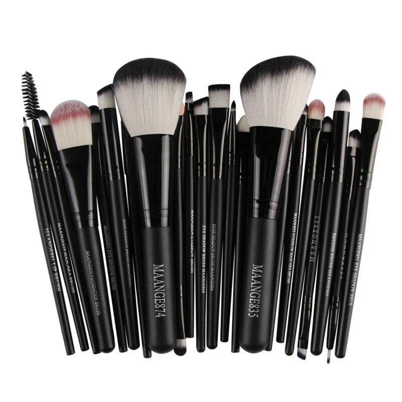 Pro 22 piezas pinceles de maquillaje cosmético Bulsh en polvo Fundación sombra delineador de ojos labios cepillo herramientas de belleza, Maquiagem