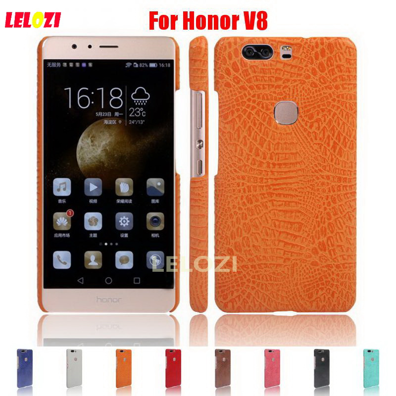 LELOZI Crocodile Snake Pattern Hard PC PU Leather Leathe Lather Phone protection Etui Coque Case For Huawei Ascend Honor V8
