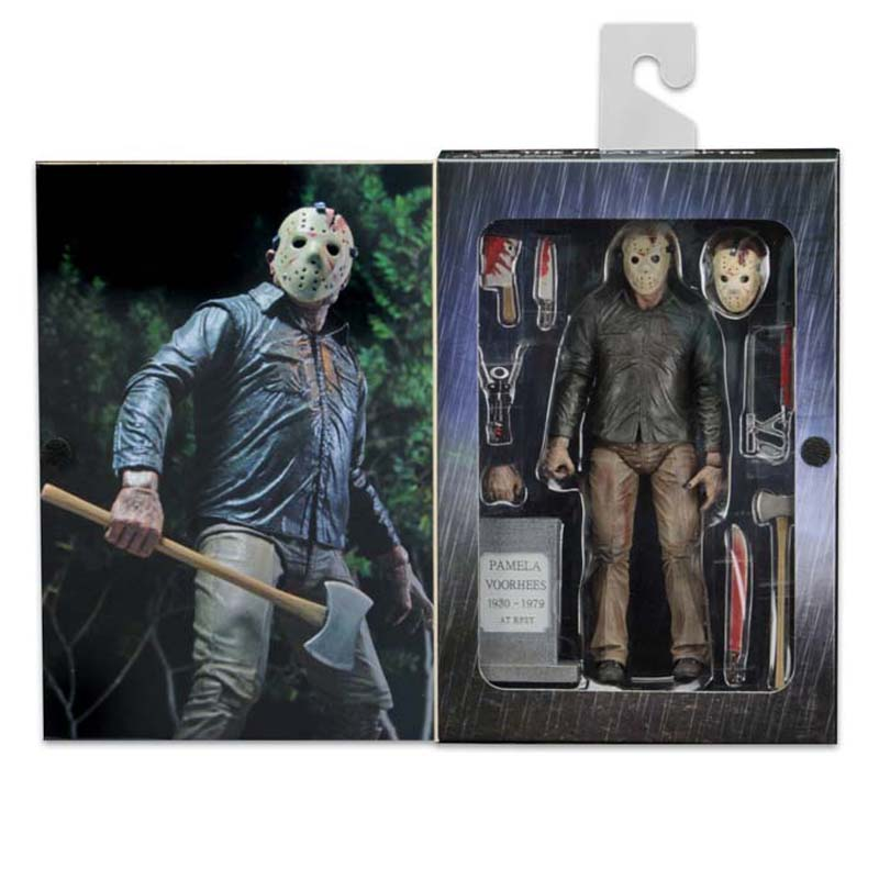 цены NECA Friday the 13th Figure The Final Chapter Jason Voorhees Action Figure Toy 18cm