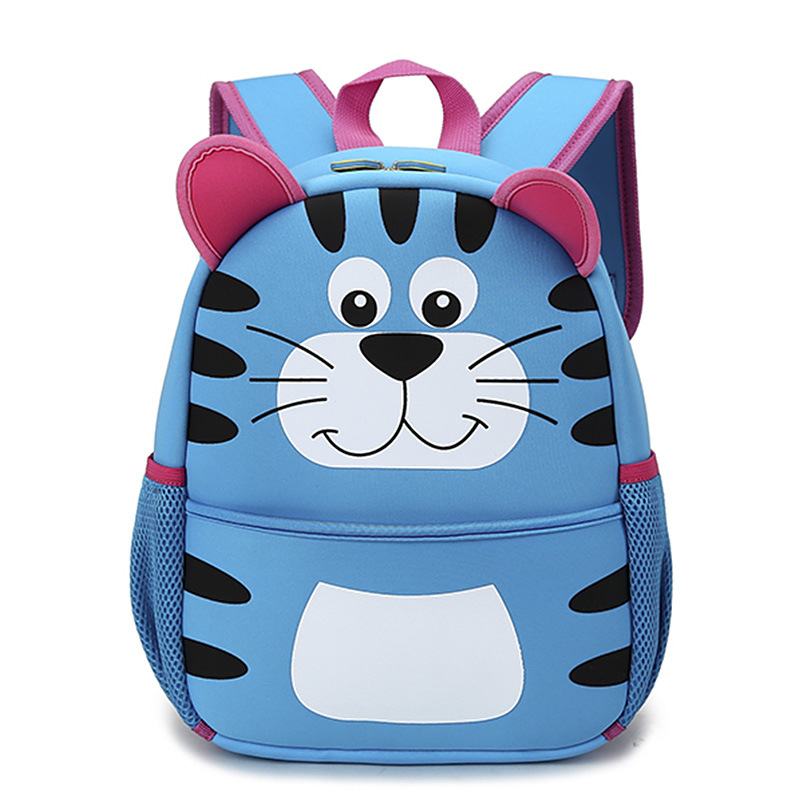 Kids 3D Lovely Tiger Character Cartoon School Backpack Animal School Bag for Boys and Girls Primary Children Cartoon School Bags