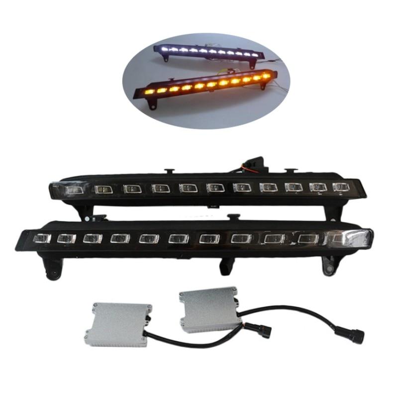 22 LED Daytime Running Lights DRL Fog Light For 2007-2009 Audi Q7 w/Turn Signal for 2007 2008 2009 2010 2011 audi q7 22 led direct fit led daytime running lights w turn signal auto parts
