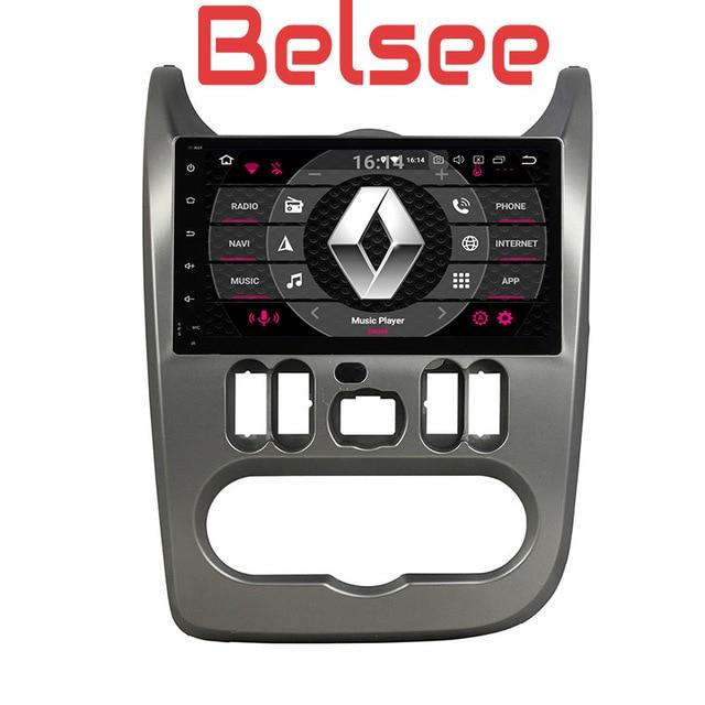 """Belsee 9 """"Android 8,0 авто радио gps навигации мультимедиа запчасти руль автомобильный DVD для Renault Dacia Duster Logan Sandero"""