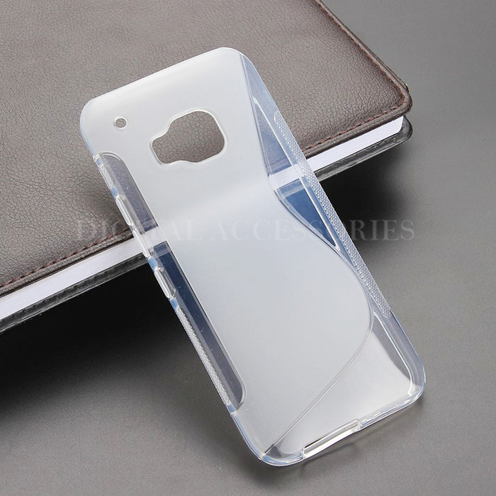 8 Color S Line Gel TPU Slim Soft Anti Skiding Case Back Cover For HTC One M9 Mobile Phone Rubber silicone Bag Cases
