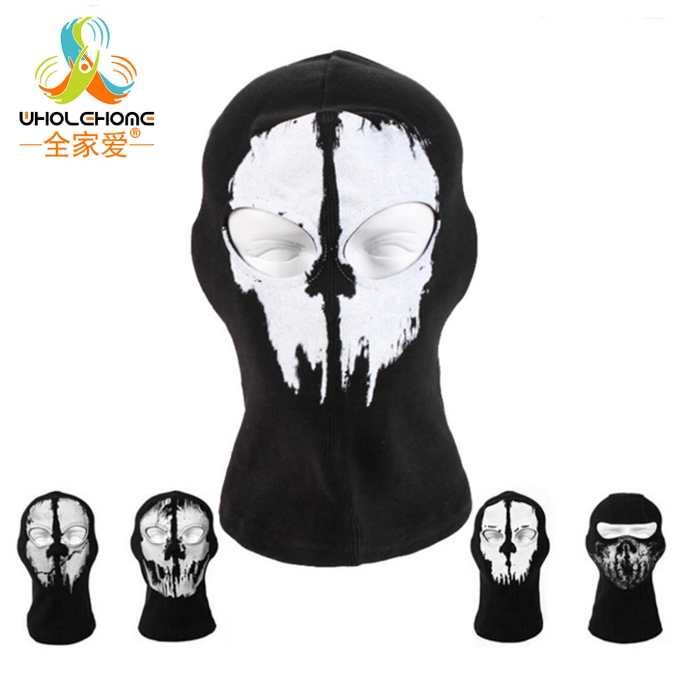 FULL FACE MASK GHOST SCARF NECK WARMER  HALLOWEEN COSTUME BYCYCLE BIKER