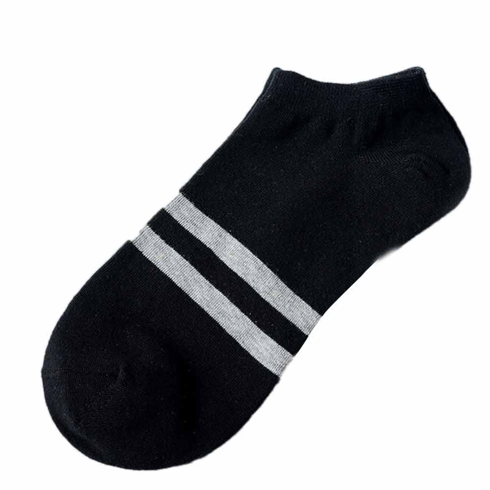 Free Ostrich 1Pairs Comfortable Stripe Cotton   Sock   Slippers Short Ankle   Socks   Female Summer White Black Couple Unisex Mesh C0940