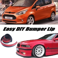 Bumper Lip Deflector Lips For Ford B Max B Max BMax Front Spoiler Skirt For Car View Tuning / Body Kit / Strip