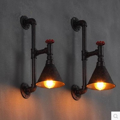 60W  Industrial Pipe Lamp Vintage Wall Light For Home In American Retro Loft Style Edison Wall Sconce Fixtures loft american edison vintage industry crystal glass box wall lamp cafe bar coffee shop hall store club