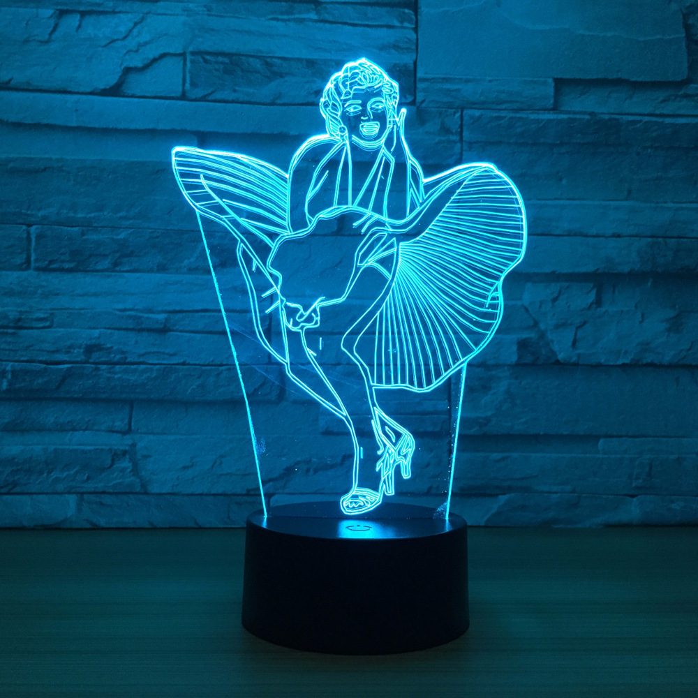 Colorful Touch Led Visual Gift Bedroom 3d Night Light Christmas gift for baby room lights  Lovely 7 color change 3D Lamp