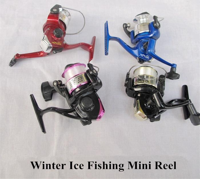 Winter Ice Fishing Reels Shore Raft 1 Bearing Wheel Plastic Mini Lure Reel