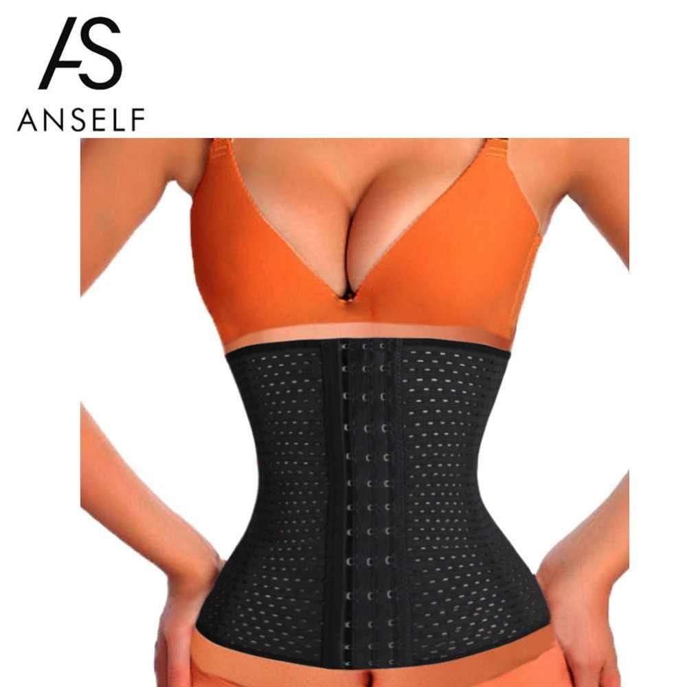 57f036c92f ANSELF Women Plus Size Body Shaper Slim Waist Tummy Belt Waist Cincher  Underbust Control Corset Slimming
