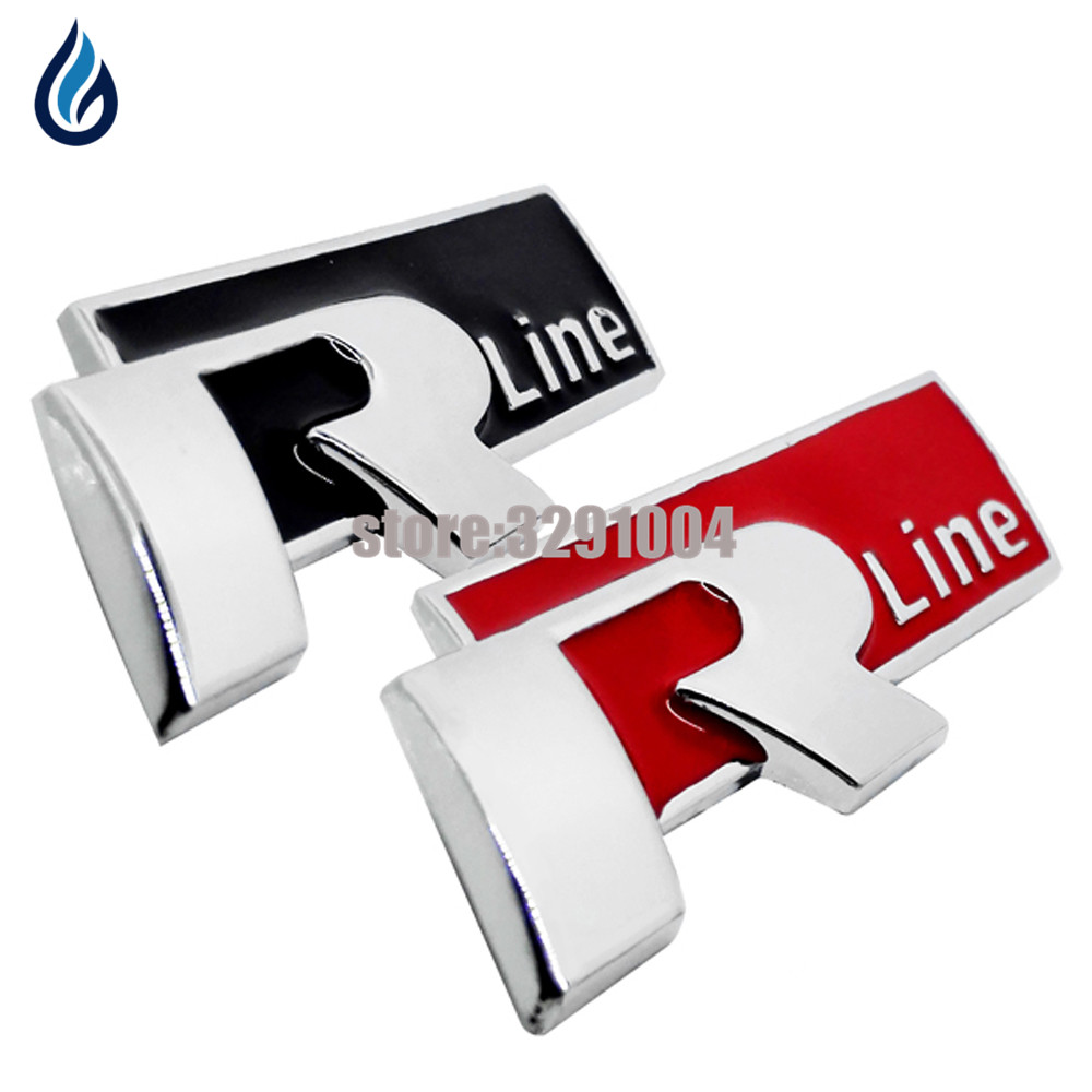 3D Sticker Car Decoration Emblem Badge Aluminum Sticker R-Line Logo Decals  For Volkswagen Passat Sagitar Magotan Tiguan Jetta customized badge holder lanyard company logo print personalized lanyard printing badge accessories