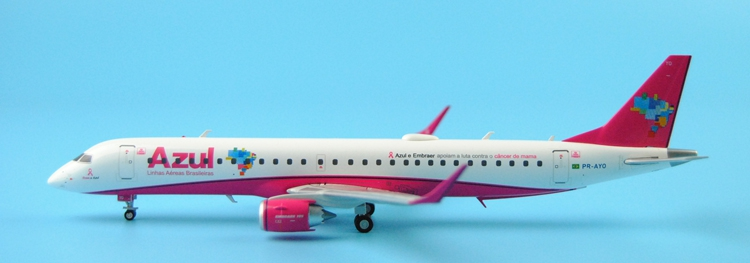 Special offer JC Wing 1: 200 XX2707 Azul ERJ-195 PR-AYO Pink Alloy aircraft model Collection model Holiday gifts