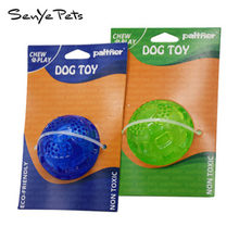 SENYE PETS 2018 pet molar sound toy floating tennis training dog toy bite rubber ball toy PPT076(China)