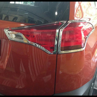 For Toyota RAV4 2016 ABS Chrome After Rear Tail Lights Lamp Covers Frame Trim Car Quality Styling Sequins